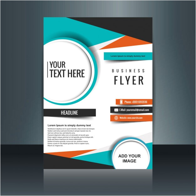 business flyer template with geometric shapes 850934