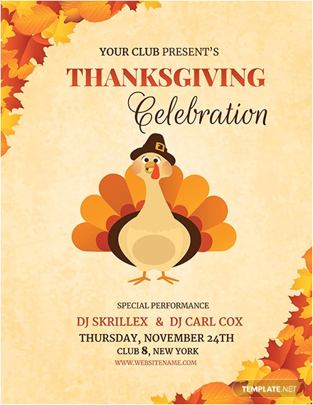 dj thanksgiving flyer