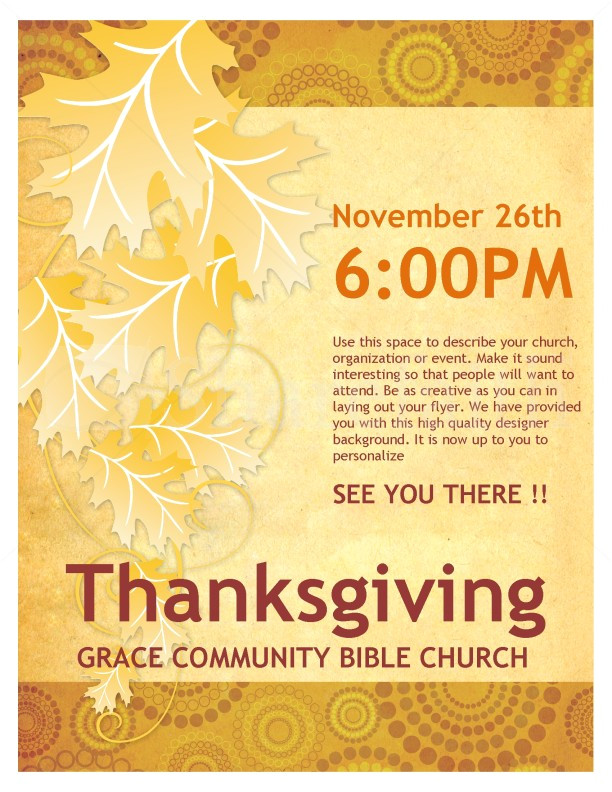 thanksgiving church flyer