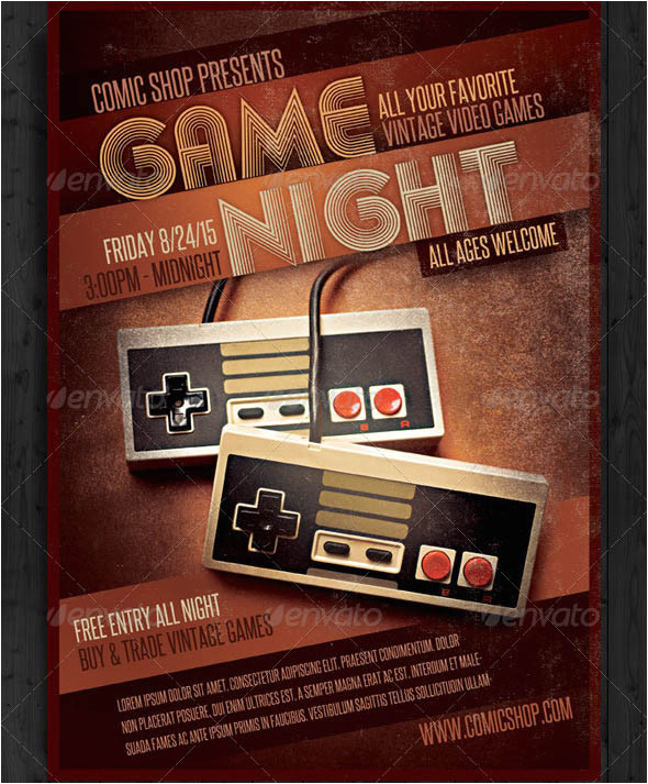 13 cool video games flyer templates