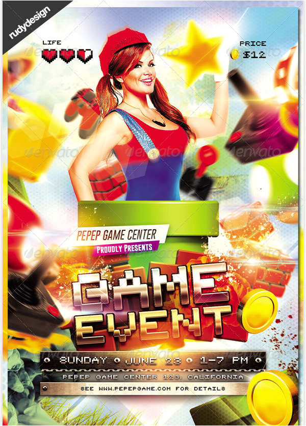 gaming flyer templates