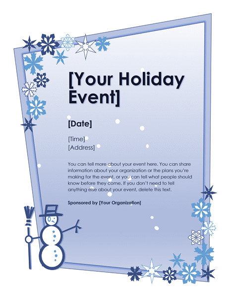 winter holiday event flyer 972