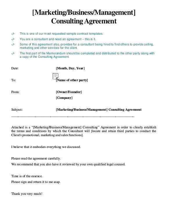 marketing consultant contract
