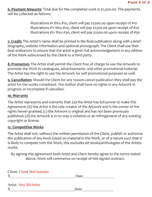 15 images of freelance artist contract template download 651