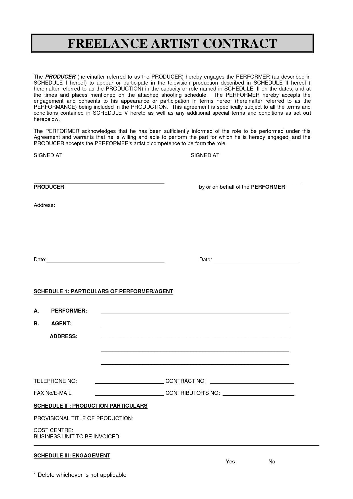 Freelance Makeup Artist Contract Templates Sabc Contract 2010 Pdf Freelance Artist Contract by
