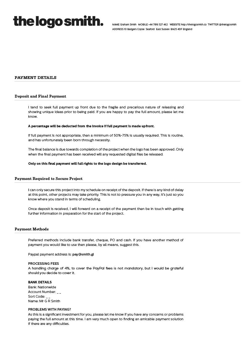 example mobile design contract