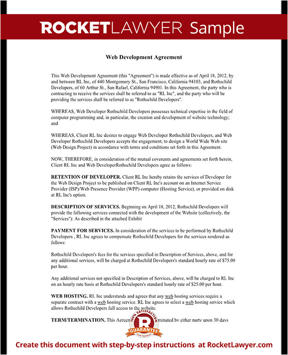 web development agreement rl