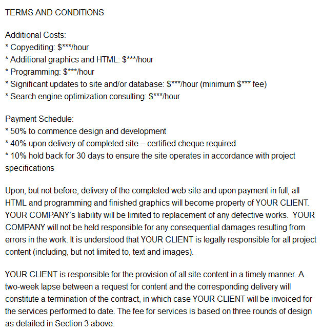 Freelance Web Developer Contract Template Printable Contract Templates