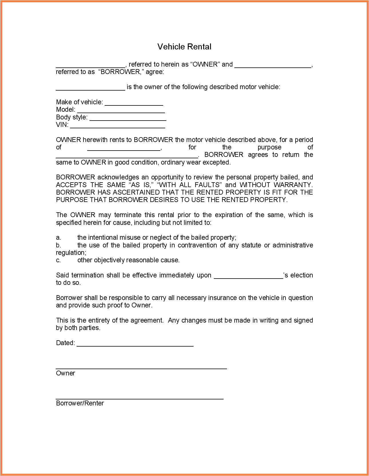 4 personal loan agreement template between friends