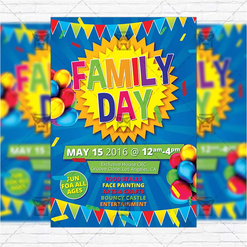 family day premium flyer template instagram size flyer
