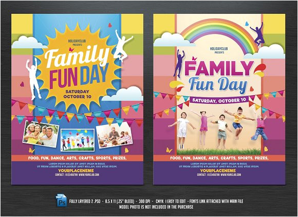 574111 family fun day flyers