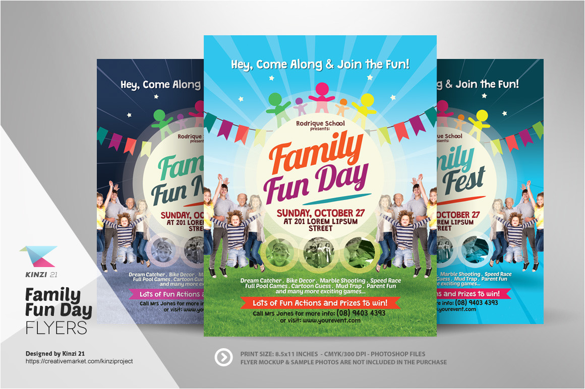 86107 family fun day flyers
