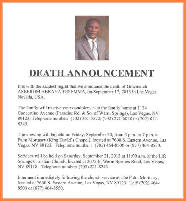 7 funeral notice examples