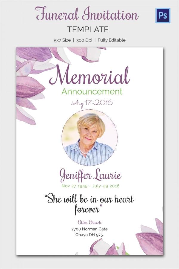 funeral invitation template