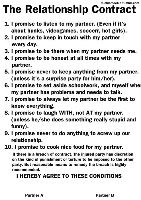 relationship contract