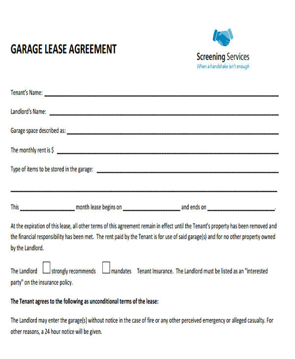 commercial leases agreement
