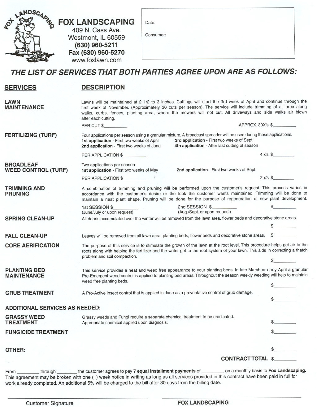 Gardening Contract Template Landscaping Contract Get the Right Contract Landscaping