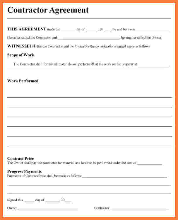 7 contractor contract template