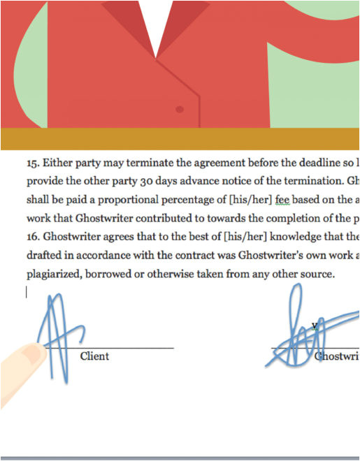 ghost writer contract template