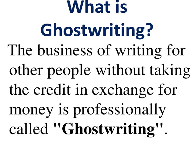 Ghost Writer Contract Template Ghostwriting Contract Sample