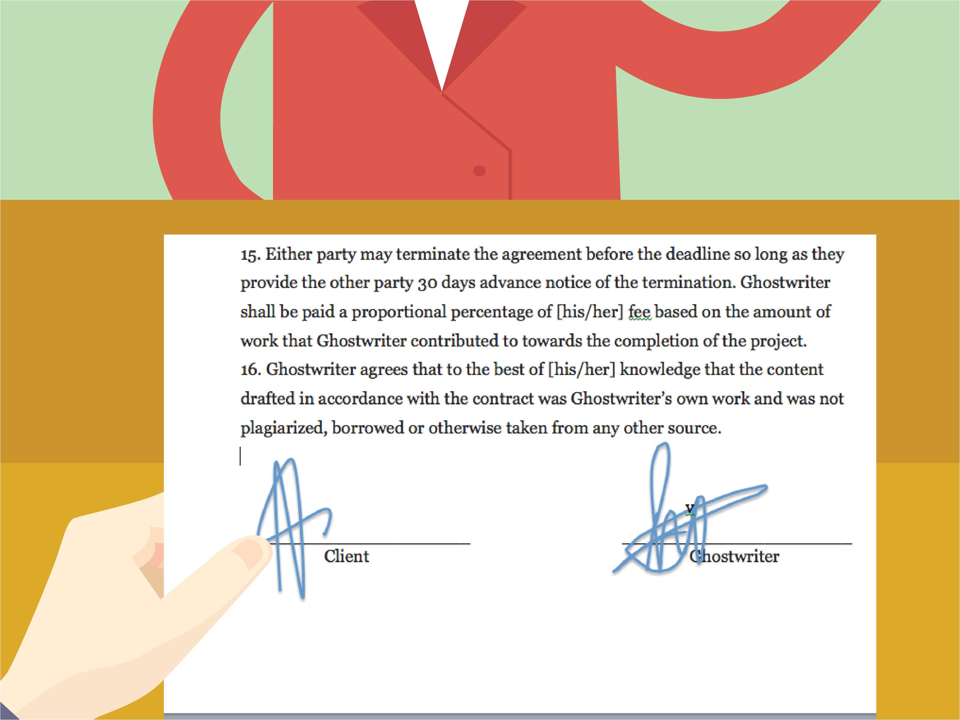 draft a ghostwriting agreement