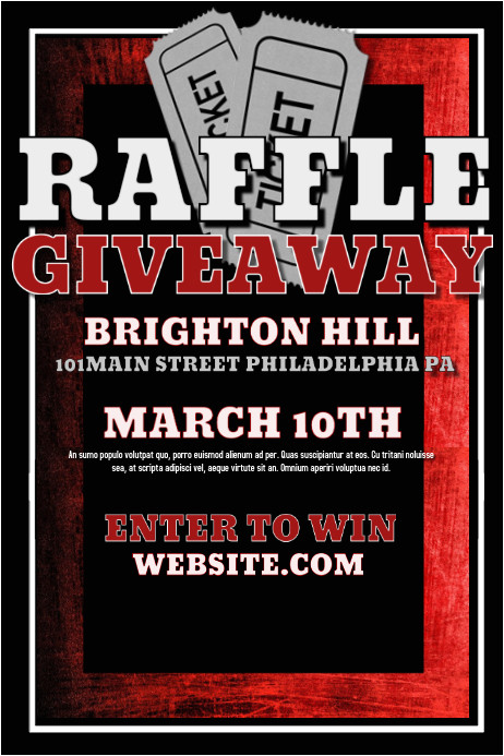raffle giveaway poster template