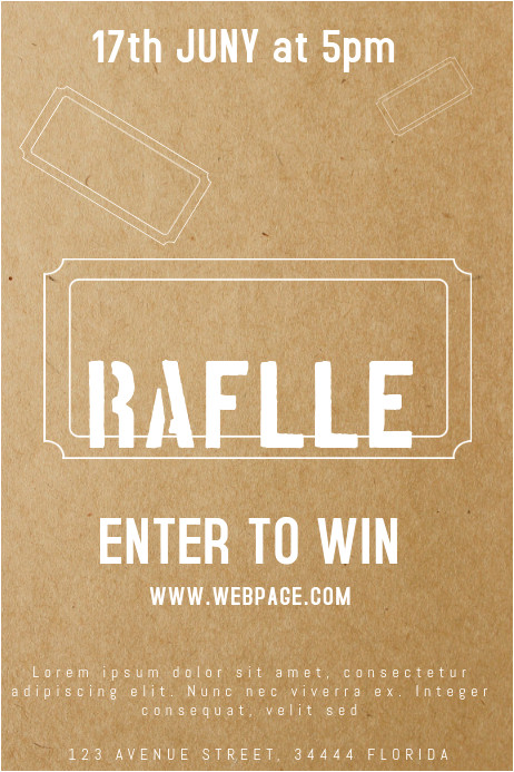 raffle giveaway ticket poster template