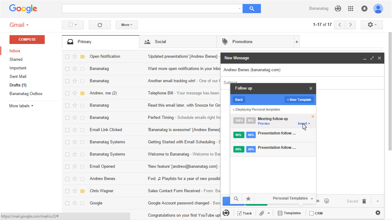 Gmail Email Template and Snippet Manager Email Templates for Gmail From Bananatag Bananatag