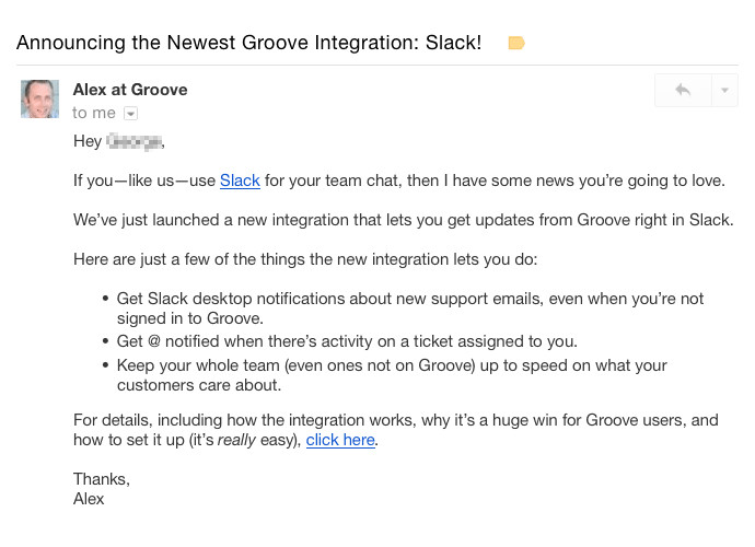 how to send product update emails