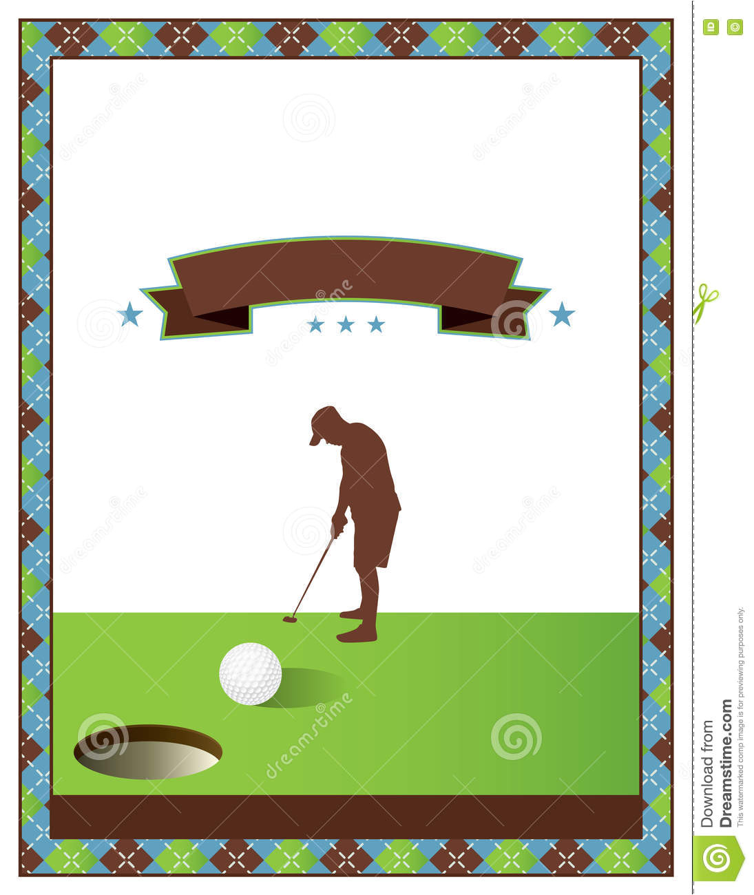 stock illustration blank golf tournament flyer template scramble invitation vector eps available image71697553