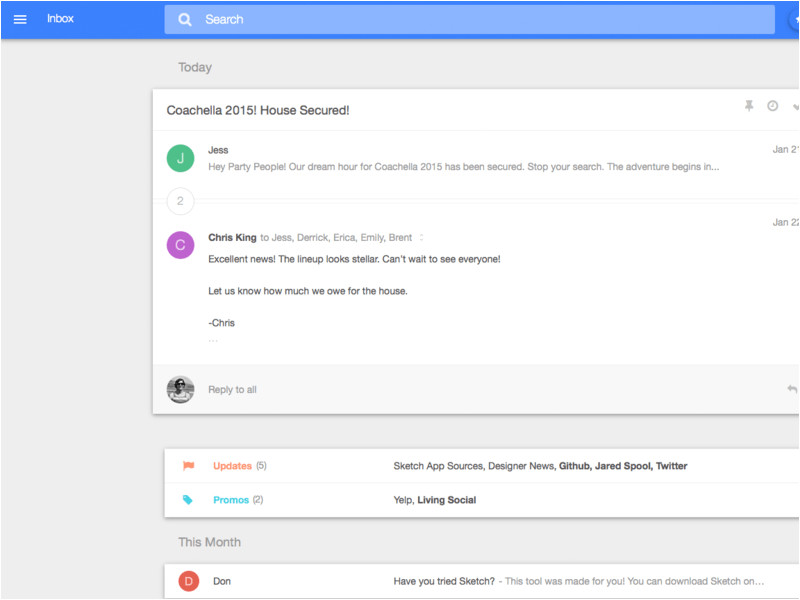 1041 google inbox material design sketch freebie resource