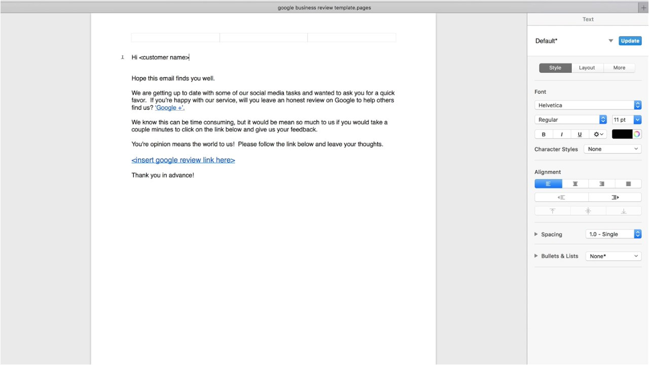 Google Review Request Email Template Google Review Request Template Youtube