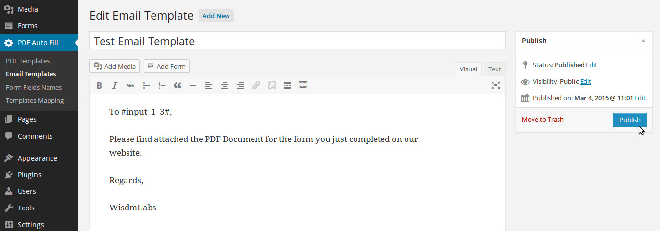 Gravity forms Email Template Gravity forms form Automation Pdf Auto Fill solution