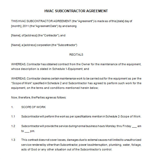 Grounds Maintenance Contract Template 20 Maintenance Contract Templates Docs Word Pages