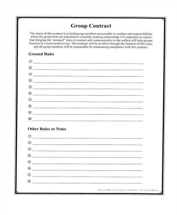 Group Work Contract Template 10 Work Contract Templates Apple Pages Google Docs