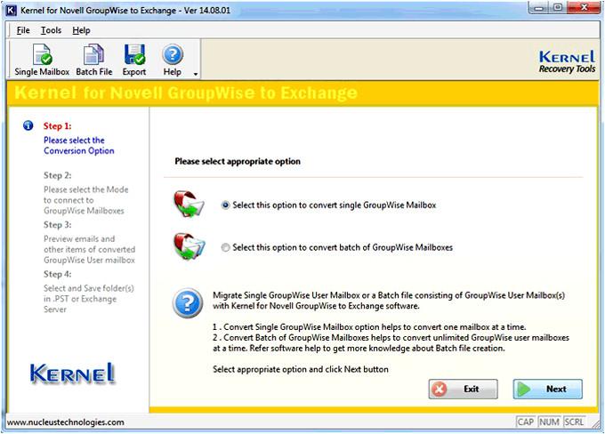 groupwise exchange migration com