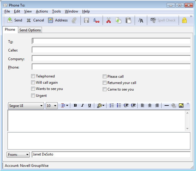 Groupwise Email Template Novell Doc Groupwise 2012 Windows Client User Guide