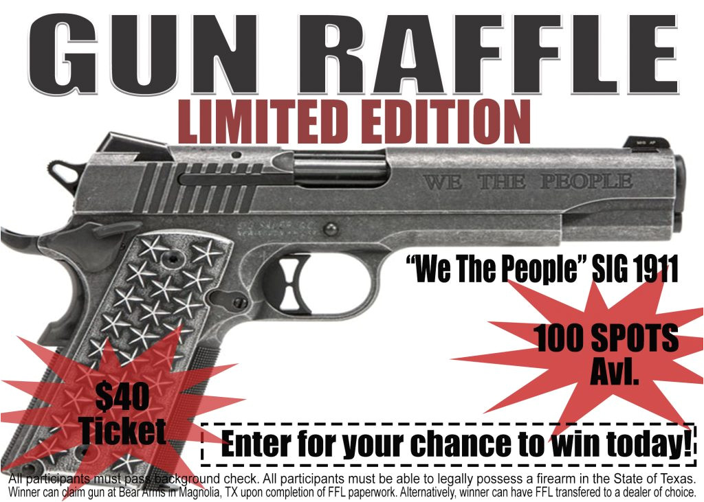 we the people sig 1911 gun raffle