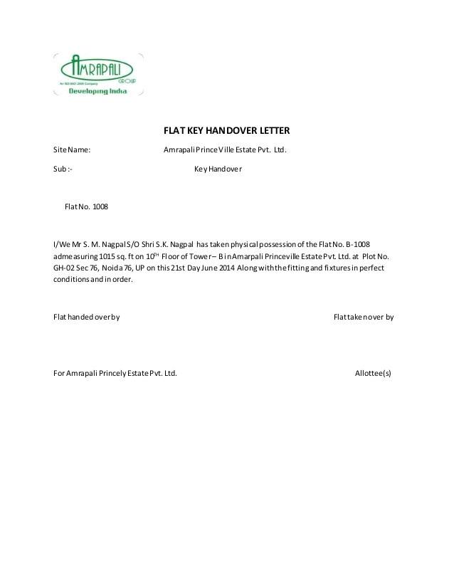 handover report sample cover letter