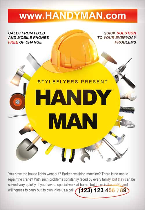 Handyman Flyer Templates Free Download Download the Handyman Business Flyer Template for Photoshop