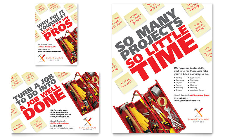 handyman services flyer ad templates co0050701d