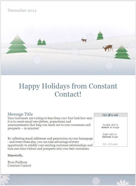 email templates holiday