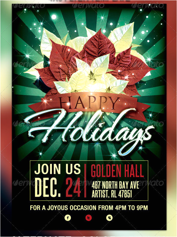 Happy Holidays Flyer Template Free 18 Amazing Holiday Party Flyer Templates Vector Eps Psd