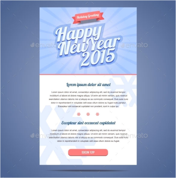 Happy New Year Business Email Template 14 New Year Email Templates Free Psd PHP HTML Css