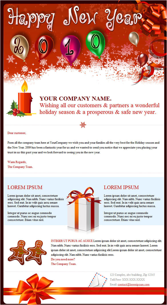 new year email templates