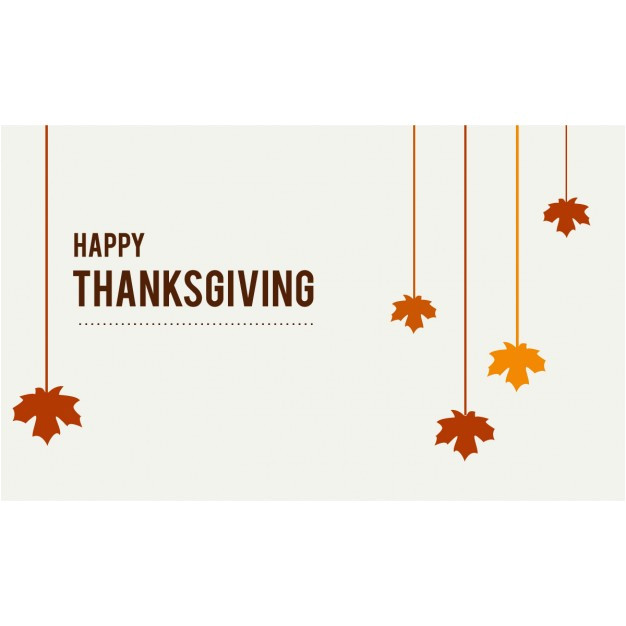 happy thanksgiving hanging leaves 956300