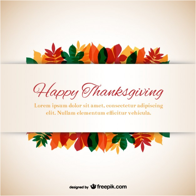 Happy Thanksgiving Email Templates Free Thanksgiving Template with Leaves Vector Free Download