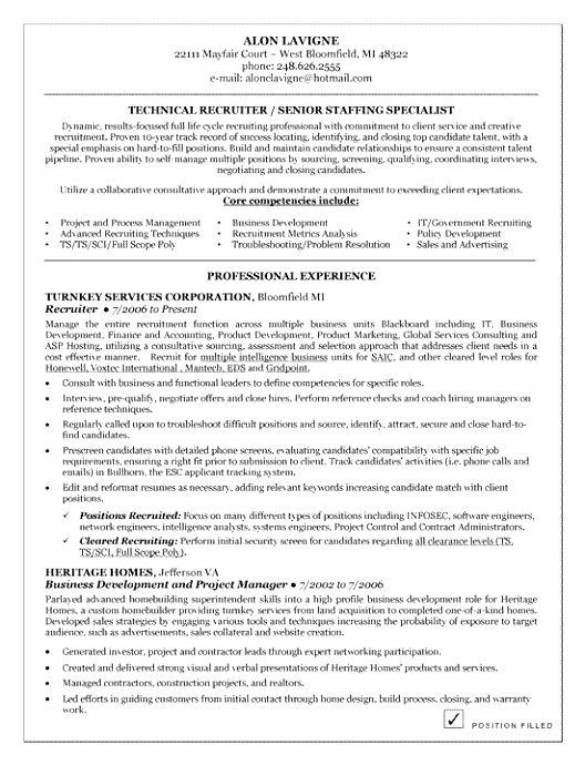 recruiting contract template