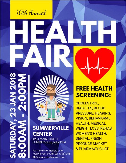 health fair poster template