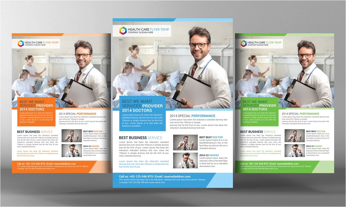 2206402 health care flyer template